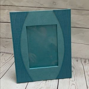 Turquoise leather suede picture frame